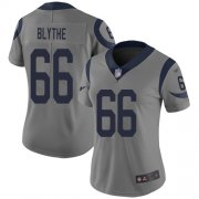 Wholesale Cheap Nike Rams #66 Austin Blythe Gray Women's Stitched NFL Limited Inverted Legend Jersey