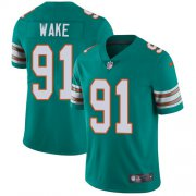Wholesale Cheap Nike Dolphins #91 Cameron Wake Aqua Green Alternate Men's Stitched NFL Vapor Untouchable Limited Jersey