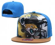 Wholesale Cheap Jaguars Team Logo Blue Adjustable Leather Hat TX