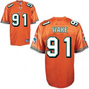 Wholesale Cheap Dolphins #91 Cameron Wake Orange Stitched NFL Jersey