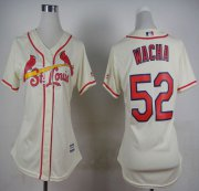 Wholesale Cheap Cardinals #52 Michael Wacha Cream Alternate Women's Stitched MLB Jersey