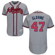 Wholesale Cheap Braves #47 Tom Glavine Grey Flexbase Authentic Collection Stitched MLB Jersey
