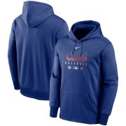Wholesale Cheap Men's Chicago Cubs Nike Royal Authentic Collection Therma Performance Pullover Hoodie