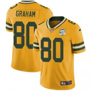 Wholesale Cheap Nike Packers #80 Jimmy Graham Yellow Men's 100th Season Stitched NFL Limited Rush Jersey