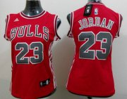 Wholesale Cheap Chicago Bulls #23 Michael Jordan 2014 New Red Womens Jersey