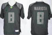 Wholesale Cheap Oregon Ducks #8 Marcus Mariota 2103 Lights Black Out Limited Jersey