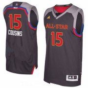 Wholesale Cheap Men's Western Conference Sacramento Kings #15 DeMarcus Cousins adidas Black Charcoal 2017 NBA All-Star Game Swingman Jersey