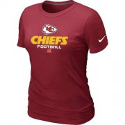 Wholesale Cheap Women's Nike Kansas City Chiefs Critical Victory NFL T-Shirt Red