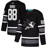 Wholesale Cheap Adidas Sharks #88 Brent Burns Black Authentic 2019 All-Star Stitched Youth NHL Jersey
