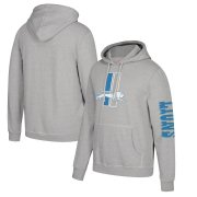Wholesale Cheap Detroit Lions Mitchell & Ness Classic Team Pullover Hoodie Heathered Gray