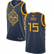 Wholesale Cheap Warriors #15 Damian Jones Navy 2019 Finals Bound Basketball Swingman City Edition 2018-19 Jersey