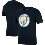 Wholesale Cheap Manchester City Nike Logo Crest T-Shirt Navy