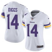 Wholesale Cheap Nike Vikings #14 Stefon Diggs White Women's Stitched NFL Vapor Untouchable Limited Jersey