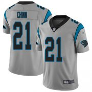 Wholesale Cheap Nike Panthers #21 Jeremy Chinn Silver Men's Stitched NFL Limited Inverted Legend Jersey