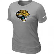 Wholesale Cheap Women's Nike Jacksonville Jaguars Logo NFL T-Shirt Light Grey