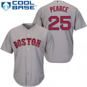Wholesale Cheap Red Sox #25 Steve Pearce Grey Cool Base Stitched Youth MLB Jersey