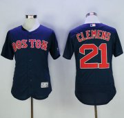 Wholesale Cheap Red Sox #21 Roger Clemens Navy Blue Flexbase Authentic Collection Stitched MLB Jersey