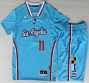 Wholesale Cheap Los Angeles Clippers #11 Jamal Crawford Blue Revolution 30 Swingman NBA Jersey Short Suits New Style