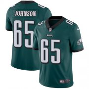 Wholesale Cheap Nike Eagles #65 Lane Johnson Midnight Green Team Color Men's Stitched NFL Vapor Untouchable Limited Jersey