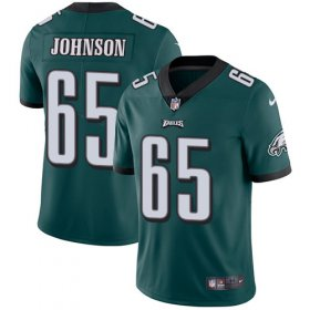 Wholesale Cheap Nike Eagles #65 Lane Johnson Midnight Green Team Color Men\'s Stitched NFL Vapor Untouchable Limited Jersey