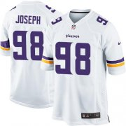 Wholesale Cheap Nike Vikings #98 Linval Joseph White Youth Stitched NFL Elite Jersey