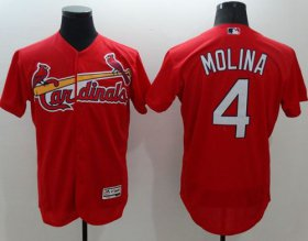 Wholesale Cheap Cardinals #4 Yadier Molina Red Flexbase Authentic Collection Stitched MLB Jersey