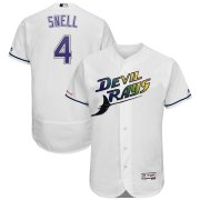 Wholesale Cheap Tampa Bay Rays #4 Blake Snell Majestic Turn Back The Clock Home Flex Base Authentic Collection Player Jersey White