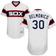 Wholesale Cheap White Sox #30 Nicky Delmonico White Flexbase Authentic Collection Alternate Home Stitched MLB Jersey