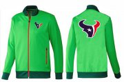 Wholesale Cheap NFL Houston Texans Team Logo Jacket Green