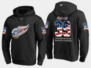 Wholesale Cheap Red Wings #39 Anthony Mantha NHL Banner Wave Usa Flag Black Hoodie