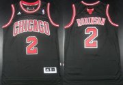 Wholesale Cheap Chicago Bulls #2 Nate Robinson Revolution 30 Swingman Black Jersey