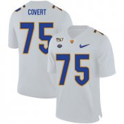 Wholesale Cheap Pittsburgh Panthers 75 Jimbo Covert White 150th Anniversary Patch Nike College Football Jersey
