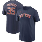 Wholesale Cheap Houston Astros #35 Justin Verlander Nike Name & Number T-Shirt Navy