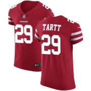 Wholesale Cheap Nike 49ers #29 Jaquiski Tartt Red Team Color Men's Stitched NFL Vapor Untouchable Elite Jersey