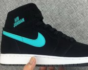 Wholesale Cheap Womens Air Jordan 1 Retro Shoes Black/Blue