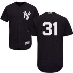 Wholesale Cheap Yankees #31 Aaron Hicks Navy Blue Flexbase Authentic Collection Stitched MLB Jersey