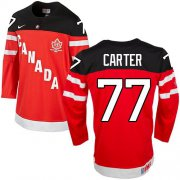 Wholesale Cheap Olympic CA. #77 Jeff Carter Red 100th Anniversary Stitched NHL Jersey