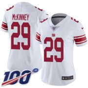 Wholesale Cheap Nike Giants #29 Xavier McKinney White Women's Stitched NFL 100th Season Vapor Untouchable Limited Jersey