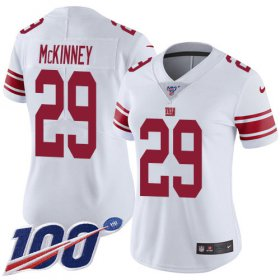 Wholesale Cheap Nike Giants #29 Xavier McKinney White Women\'s Stitched NFL 100th Season Vapor Untouchable Limited Jersey