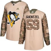 Wholesale Cheap Adidas Penguins #59 Jake Guentzel Camo Authentic 2017 Veterans Day Stitched Youth NHL Jersey