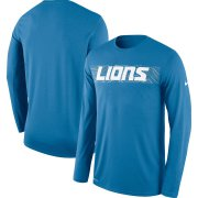 Wholesale Cheap Detroit Lions Nike Sideline Seismic Legend Long Sleeve T-Shirt Blue