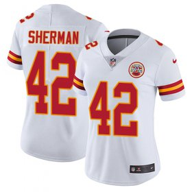 Wholesale Cheap Nike Chiefs #42 Anthony Sherman White Women\'s Stitched NFL Vapor Untouchable Limited Jersey