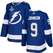 Cheap Adidas Lightning #9 Tyler Johnson Blue Home Authentic Youth 2020 Stanley Cup Champions Stitched NHL Jersey