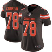 Wholesale Cheap Nike Browns #78 Jack Conklin Brown Team Color Women's Stitched NFL Vapor Untouchable Limited Jersey