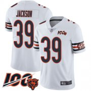 Wholesale Cheap Nike Bears #39 Eddie Jackson White Men's Stitched NFL 100th Season Vapor Limited Jersey
