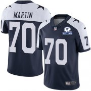 Wholesale Cheap Nike Cowboys #70 Zack Martin Navy Blue Thanksgiving Men's Stitched With Established In 1960 Patch NFL Vapor Untouchable Limited Throwback Jersey