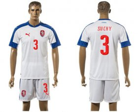Wholesale Cheap Czech #3 Suchy Away Soccer Country Jersey