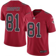 Wholesale Cheap Nike Falcons #81 Austin Hooper Red Youth Stitched NFL Limited Rush Jersey