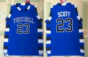Wholesale Cheap One Three Hill 23 Scott Blue Stitched Jersey