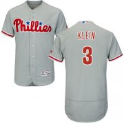 Wholesale Cheap Phillies #3 Chuck Klein Grey Flexbase Authentic Collection Stitched MLB Jersey